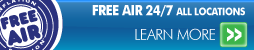 Free Air 24/7 at All Conrad's Tire Express and Total Car Care Locations Learn More